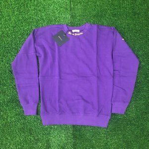 Palm Angels Back Side Brand Printed Purple Sweat